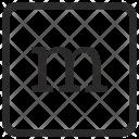 M alphabet Icon