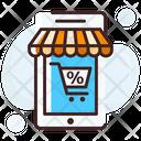 Mobile Shopping Online Shopping Shopping Application Icon