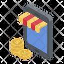 M Commerce Mobile Shop Ecommerce Icon