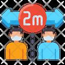 M Distance Keep Distance Social Distance Icon