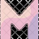 M Sign Alphabet Icon
