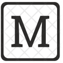 M Uppercase Letter Icon