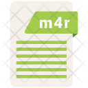 M 4 R Format Document Icon
