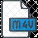 M 4 V Film Video Icon