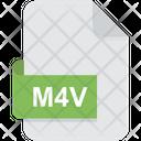 M 4 V File Type Video Icon