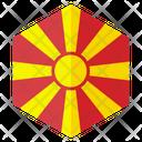 Macedonia Country Flag Icon