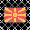 Macedonia Flag Country Icon