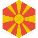 Macedonia Republic Flag Icon