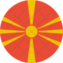 Macedonia Flag World Icon