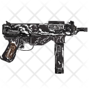 Uzi Automatic Shooting Icon
