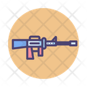 Machine Gun Weapon Army Icon