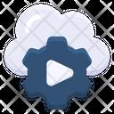 Cloud Cogwheel Play Icon