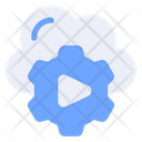 Machine Learning Video Setting Cloud Icon