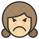 Mad Emotion Face Icon