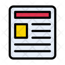 News Paper Reading Icon
