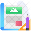 Article Writing Blogging Writing Content Icon