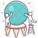 Divintion Magical Globe Fortune Telling Icon