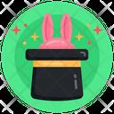 Bunny Hat Magic Hat Bunny Prank Hat Icon