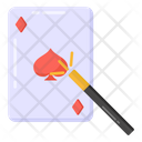 Magic Card Trick Magic Trick Circus Trick Icon