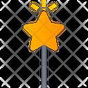 Magic Wand With Star Magic Stick Magic Wand Icon