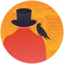 Magician Magic Tricks Halloween Party Icon