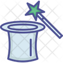 Magician Cap Hat Magic Trick Icon