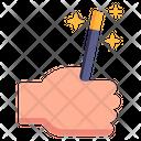 Magician Stick Magic Wand Magician Hand Icon