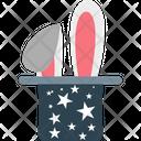 Magician Hat Magic Wand Magician Cap Icon