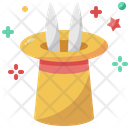 Magician Hat Rabbit Magic Hat Icon