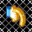 Hand Holding Horseshoe Icon