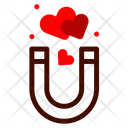 Magnet Attraction Heart Icon