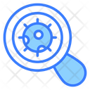 Magnification Germs Bacteria Icon