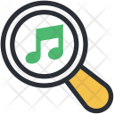 Magnifier Music File Icon
