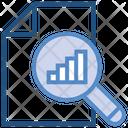 Data Analytics Magnifier Document Icon