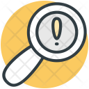 Magnifier Exclamation Mark Icon