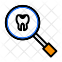 Magnifier Search Tooth Icon
