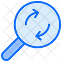 Magnifier Arrow Searching Icon