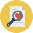 Magnifier On Love Icon