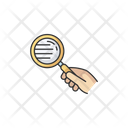 Magnify Glass Hand Icon