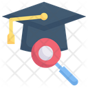 Magnify Mortarboard Study Education Search Study Icon