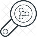 Magnifying Glass Molecules Icon