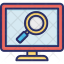 Magnifying computer Icon