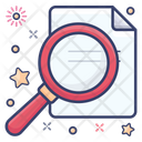 Magnifying Glass File Search Folder Search Icon