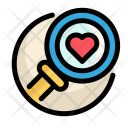 Medical Heart Magnifying Icon