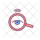 Magnifying Glass With Eye Icon