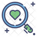 Magnifying Glass With Love Search Love Searching Love Icon