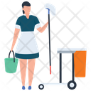 Maid Waiter Hotel Server Icon