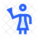 Housekeeper Cleaning Woman Icon
