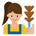 Maid Cleaning Service Icon