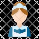 Maid Wanita Receptionist Icon